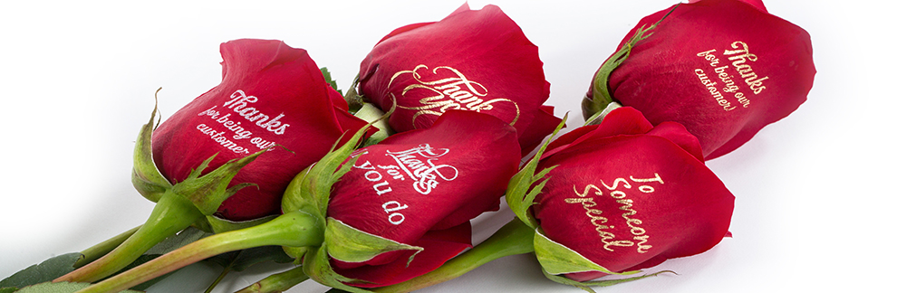 We Print On Roses An official representative of Speaking Roses International